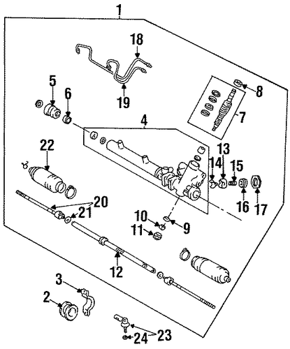 STEERING/STEERING GEAR & LINKAGE for 1996 Toyota Tercel #2