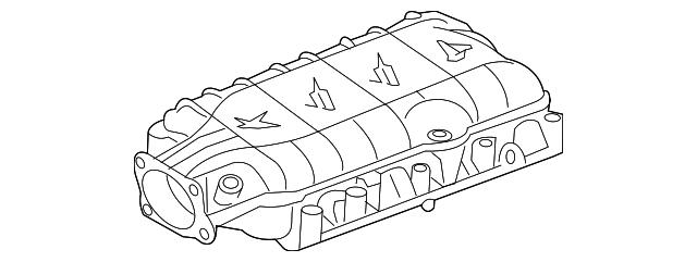 GM OEM-Engine Intake Manifold Gasket 12626354