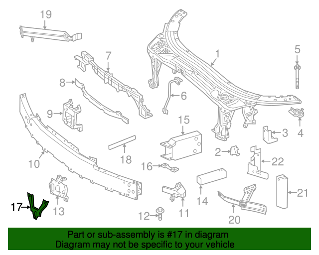 Genuine Mercedes-Benz Supporting Frame 099-504-21-18-64