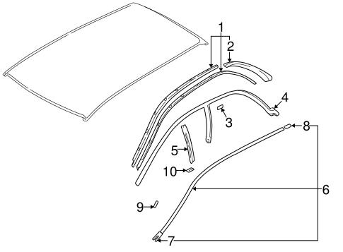 bodyexterior trim roof for 1998 subaru impreza 1