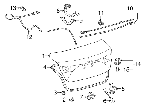 Lid & Components for 2015 Toyota Avalon #0