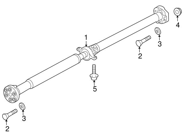 Genuine Hyundai 49300-2M410 Propeller Shaft Assembly