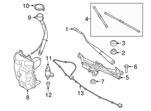 Wiper Washer Components For 2016 Bmw X1