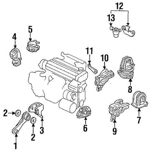 Bracket, Rear Engine Mounting (Mt)