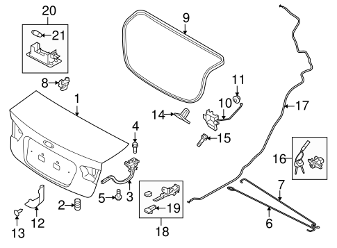 Lid Components For 2013 Kia Forte