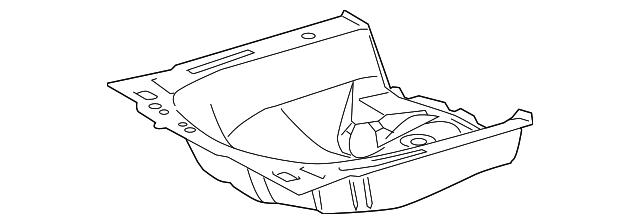 2007 2019 Toyota Rear Floor Pan 58311 52141