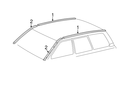 BODY/EXTERIOR TRIM - ROOF for 2001 Toyota Land Cruiser #1