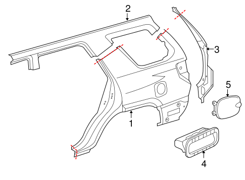 2014 Toyota 4runner Parts Diagram