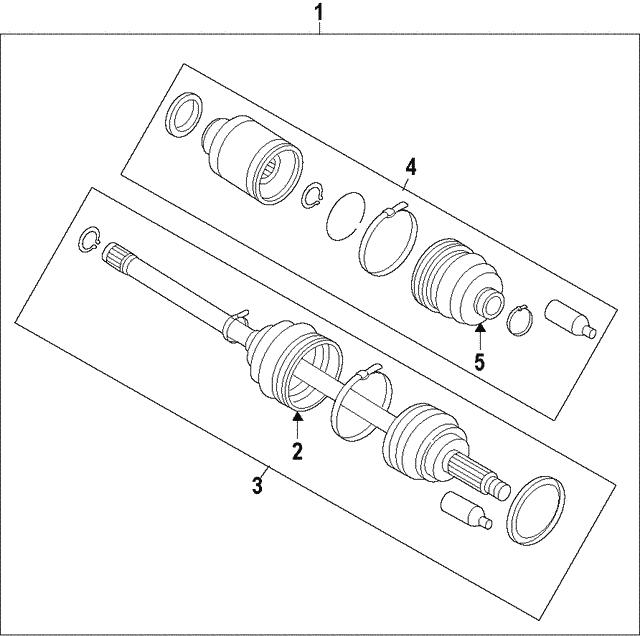 drive shaft front axle [new] - subaru (28321aj011)