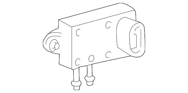 genuine ford pressure feedback sensor 4u7z