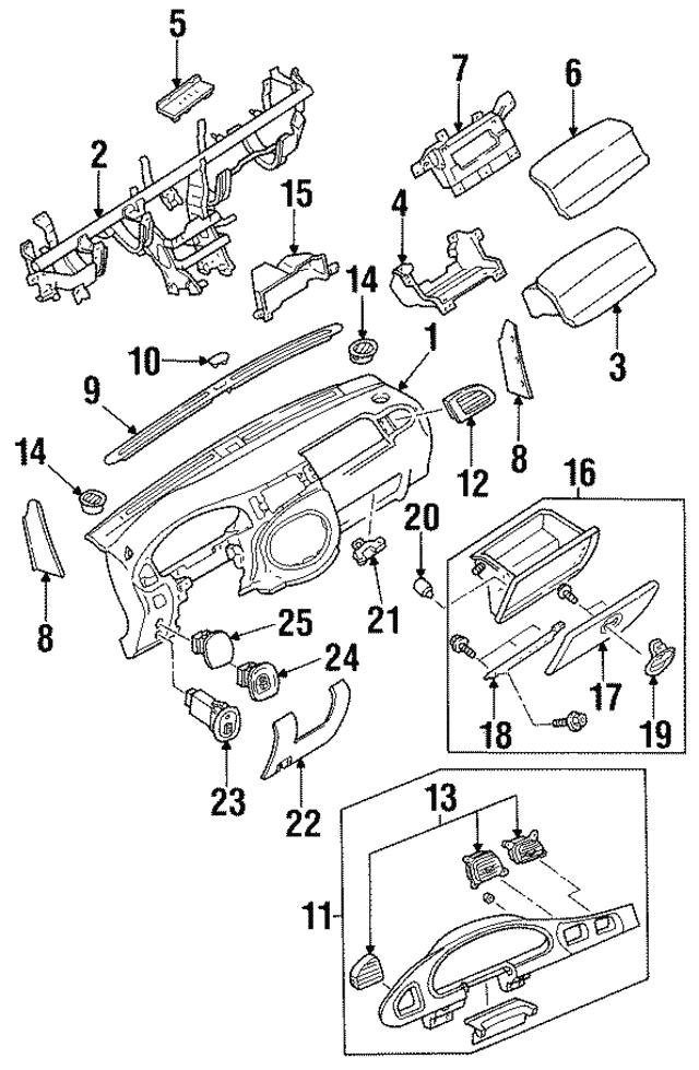 1997 2012 Ford Glove Box Assembly Bumper F7cz 5406066 Aa