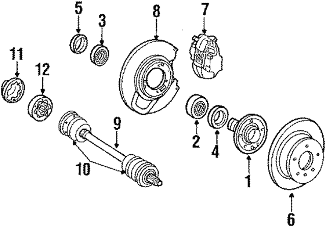 Brake Disc - Mercedes-Benz (126-423-00-12-64)