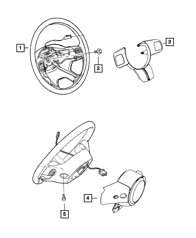 Genuine Chrysler 1TT66DX9AE Steering Wheel
