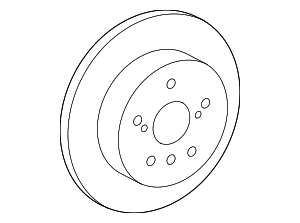 Disc Brake Rotor - Toyota (42431-06180)