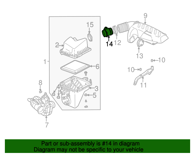 Mass Air Flow Sensor Gm 55353127 Gmpartsnow