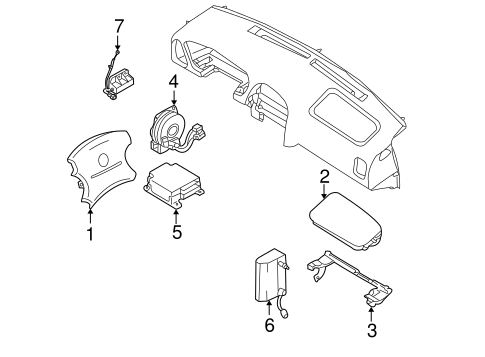 Electrical/Air Bag Components for 2004 Nissan Pathfinder #1