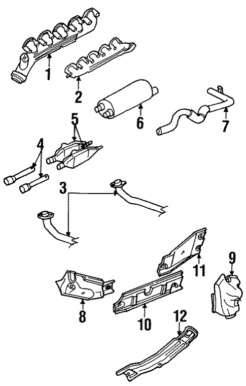 exhaust components for 1996 dodge ram 2500