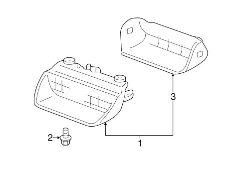 light assembly high mount stop honda 34270 tf0 j13. Black Bedroom Furniture Sets. Home Design Ideas
