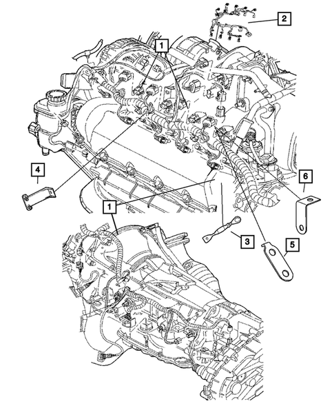 Wiring-Engine & Related Parts for 2005 Dodge Ram 1500   DodgeParts.comDodge Parts