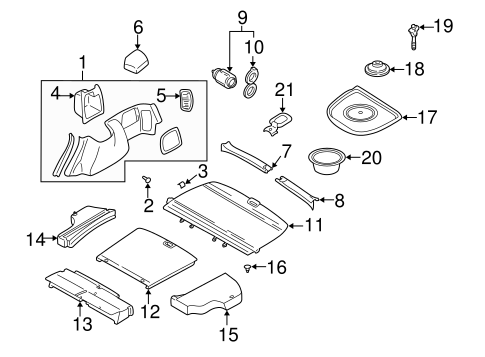 Interior Trim Rear Body For 2001 Subaru Forester Subaru Parts Store