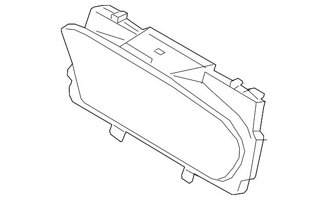 Volvo Xc90 Cluster Lens 31453063