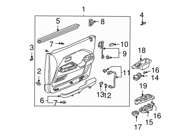 1996 2015 Honda Cushion Wire Harness 50x50 91902 Sj8 003