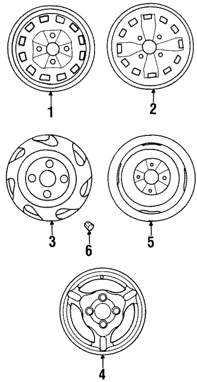 Wheel, Steel - Hyundai (52910-21620)