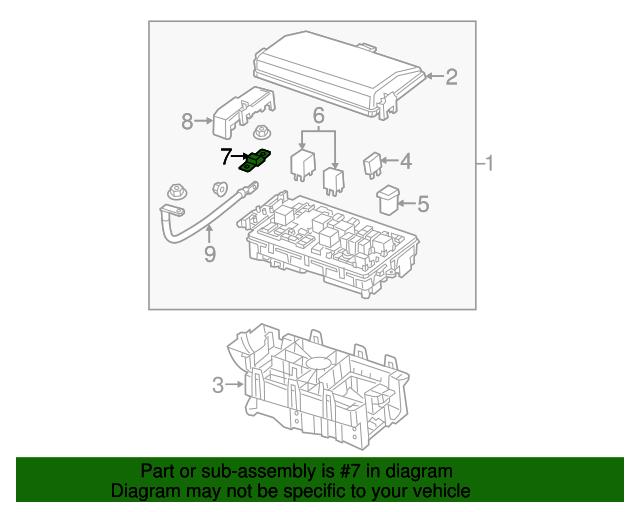 fuse (175 midi fuse) bolt down black w/green