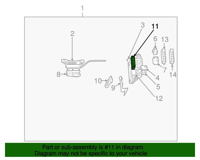 fuse box toyota 82620 47050 toyota parts rh toyotaparts mcgeorgetoyota com Corolla Fuse Box Toyota Fuse Box Diagram