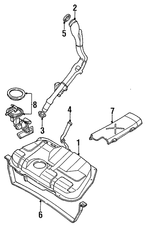 Fuel System/Fuel System Components for 1997 Ford Contour #1
