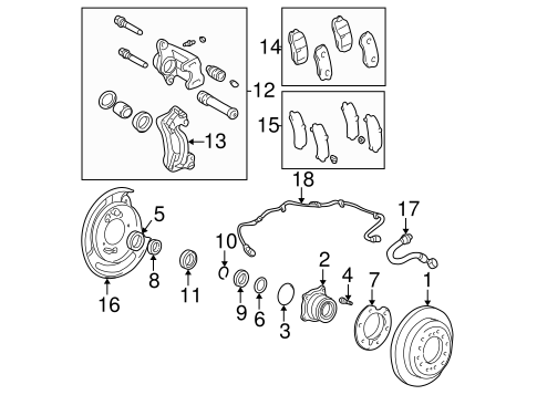 BRAKES/BRAKE COMPONENTS for 2001 Toyota Sequoia #1