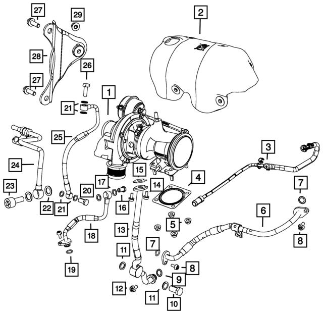 CHRYSLER OEM Turbo Turbocharger-Gasket 4893382AA