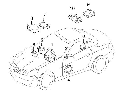 Sound System For 2009 Mercedes Benz Slk 350