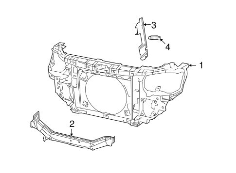 radiator support for 2015 dodge journey