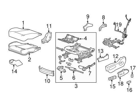 oem 2014 cadillac srx driver seat components parts