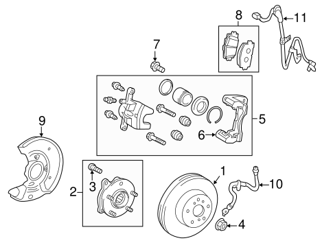 BRAKES/BRAKE COMPONENTS for 2015 Scion tC #1
