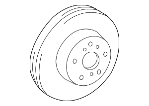 Brake Rotor | Front - Toyota (43512-0R020)