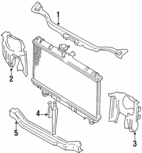 Genuine Oem Radiator Support Parts For 1992 Toyota Corolla Base