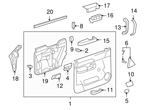 chevy silverado exterior diagrams 2002 chevy silverado parts diagrams heater
