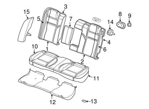 Rear Seat Components For 2006 Dodge Charger