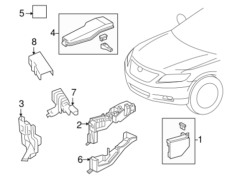 Toyota 89960-0T060 Headlamp Leveling Computer Assembly