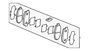 Pad Set, Front - Acura (45022-SJP-A01)