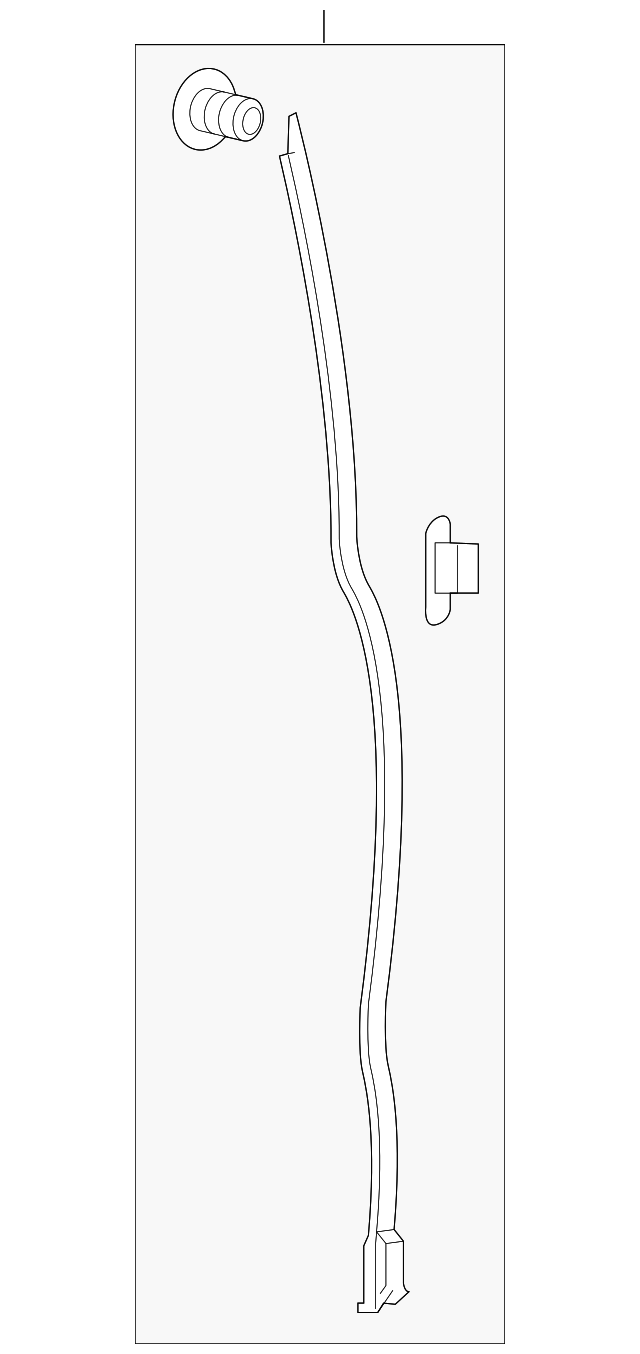 seal assembly  r front slide door gap