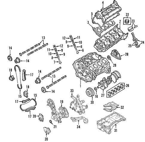 Product164 moreover T5113165 Remove upper intake manifold 2004 moreover Infignitor besides Removing and installing both camshafts additionally 2003 Chevy Impala 3 4l Engine Diagram. on spark plug valve