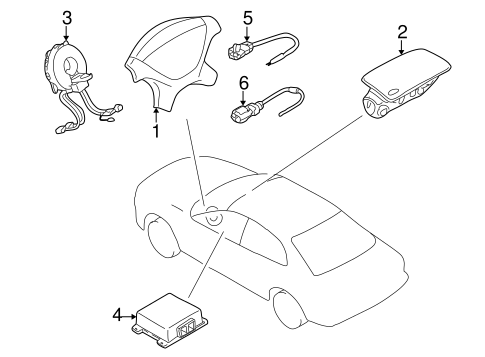 Air Bag Components For 2002 Chrysler Sebring