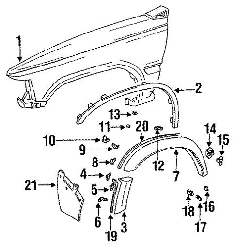 Genuine Oem Fender Components Parts For 1991 Toyota 4runner Sr5