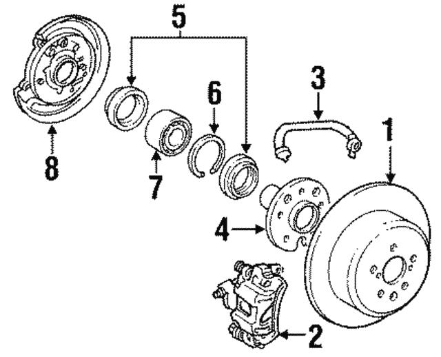 1984 1991 Toyota Camry Brake Hose 90947 02497