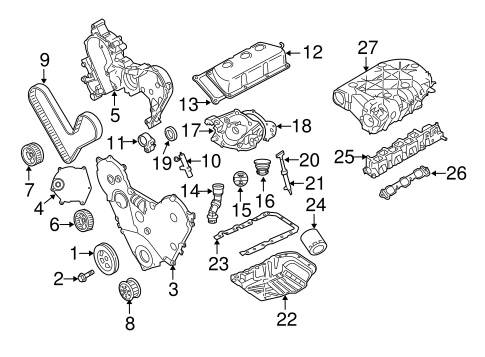 engine parts for 2007 chrysler pacifica