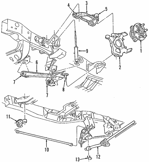 suspension components for 2001 dodge durango