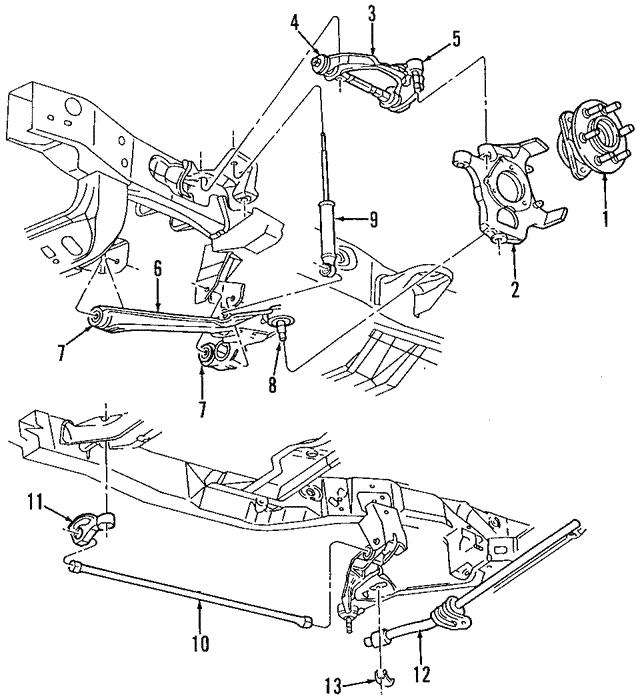 1998 2003 Dodge Durango Shock Absorber 4897393ah